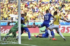 Colombia take control of their Group C clash with Greece