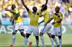 Colombia ease to a comfortable 3-0 victory over a disappointing Greece