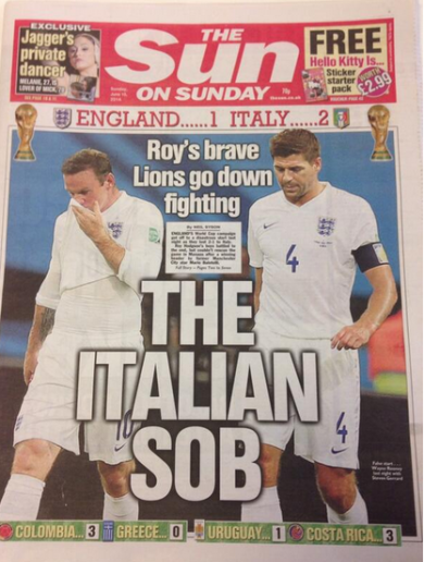 Here's how the English media reacted to Wayne Rooney's display against Italy