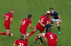 Scotland survive Canadian lumberjacking after controversial red card
