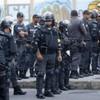 Trouble flares on the streets of Rio as Maracana hosts Argentina v Bosnia