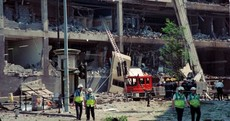 Unseen photos show the devastation caused by the IRA's 1996 Manchester bomb