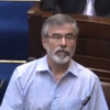 'Resume your seat while I'm on my feet': Gerry Adams was given out to in the Dáil today