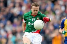 Andy Moran is struggling with a hamstring injury - but Mayo say it's 'nothing major'