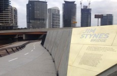 A bridge named after the late, great Jim Stynes was opened in Australia today