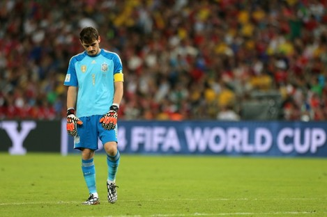 Iker Casillas at the final whistle.