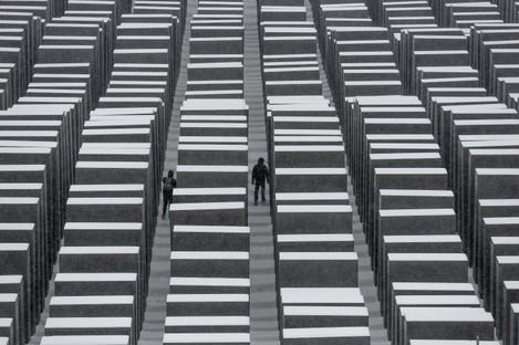 The International Holocaust Memorial in Berlin.