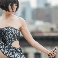 This dress becomes transparent every time you post on social media