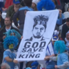 Uruguay fans taunt England's with a clever banner hailing King Luis