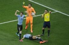 Uruguay's Álvaro Pereira plays on after serious knock to the head