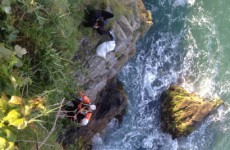 Two swimmers rescued from Howth cliff after being caught by strong currents