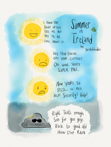 Summer in Ireland, summed up in one single comic