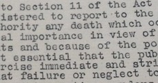 Government reminded local authorities of their obligation to report infant deaths in mother and baby homes in 1946