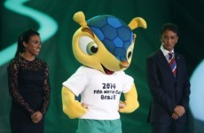 Official World Cup mascot Fuleco has been a very naughty boy