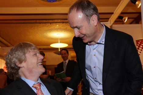 Crowley and Martin in happier times (at the FF Ard Fheis in March).
