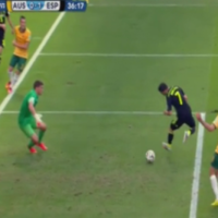 David Villa's nifty backheel put Spain on course for first World Cup win