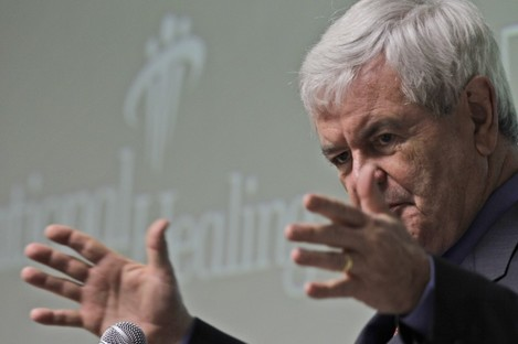 """Gingrich now has a problem """"this big"""" on his hands (File photo)"""