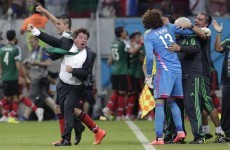 You haven't seen a coach celebrate until you've seen Mexico boss Miguel Herrera