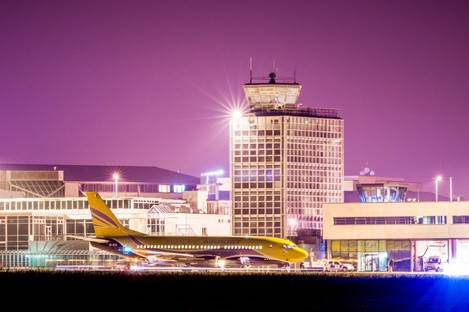 The plane at Cork Airport last night