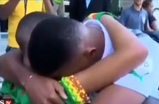 Samuel Eto'o stops to console distraught fan as Cameroon depart Brazil