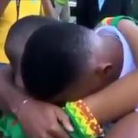 Samuel Eto'o stops to console distraught fan as Cameroon depart Brazil