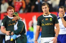 Pollard goes straight from U20s into Springboks' number 10 shirt