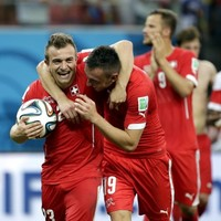 Shaqiri's treble fires Switzerland into second round tie with Messi's Argentina