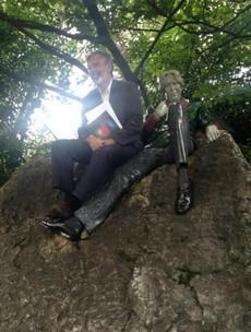 Gerry Adams made a new friend