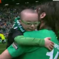 Greece star Georgios Samaras invites young Irish fan to the World Cup