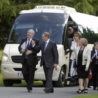 """Stop the bus, I wanna go..."": Ministers head for key meetings on the austerity coach"