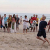 Arsene Wenger recreates Robin van Persie's diving header on Brazilian beach