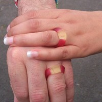 Couple use Haribo rings to get married after their wedding bands are stolen