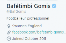 Bafetimbi Gomis has signed for Swansea - but doesn't seem know which country it's in