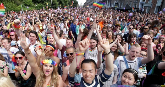 The sun shines on Dublin's Pride Parade as thousands attend