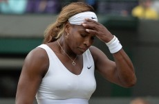 Number one seed Serena Williams dumped out of Wimbledon