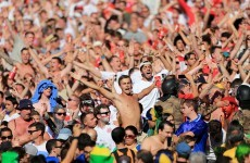 England fan's ear bitten off during Uruguay game