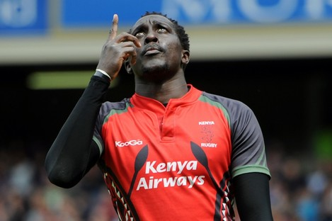Humphrey Kayange, a nominee for IRB Sevens Player of the Year in 2009, scored a try against Namibia [file photo].