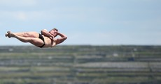 10 of our favourite pictures from today's cliff diving event on Inis Mór