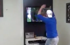 Brazilian fan loses it after penalty shootout and smashes his own TV
