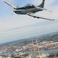Did you spot this Air Corps training mission over Dublin yesterday?
