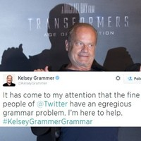 Kelsey Grammer joined Twitter and immediately began correcting people's grammar