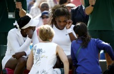 Weeping Serena in Wimbledon health scare