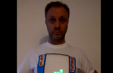 Hold everything, it's a playable Tetris t-shirt