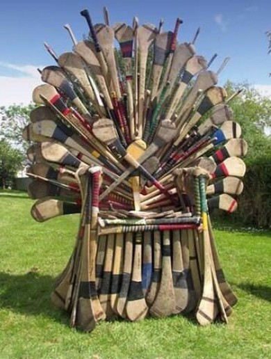 Community projects make Game of Thrones sculptures out of old hurleys