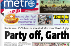 The Garth Brooks headline in today's Metro Herald is pretty excellent