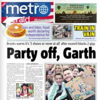The Garth Brooks headline in today's Metro Herald is pretty excellent
