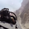 Here's what a fighter jet flying through canyons looks like from the backseat