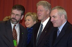 Hillary Clinton was asked if parties should enter Government with Sinn Féin
