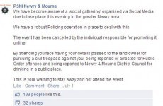 PSNI Newry write brilliantly narky response to youngsters annoyed at having their rave cancelled