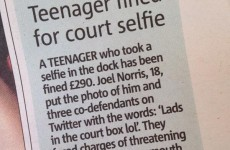 Teen fined for taking 'lads in the court box lol' Twitter selfie in the dock